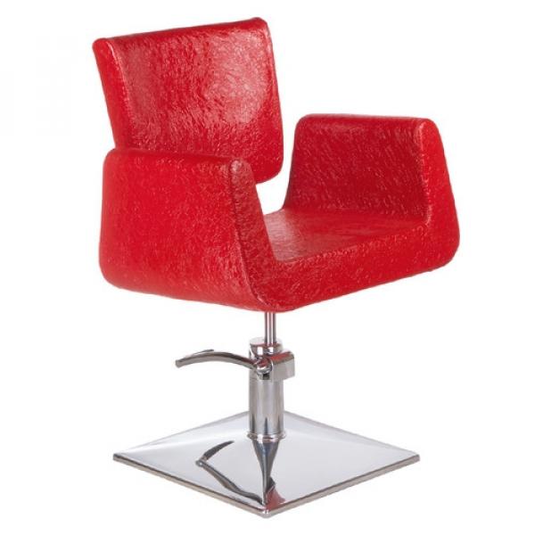 Fotel Fryzjerski Vito BH-8802 Czerwony LUX #1
