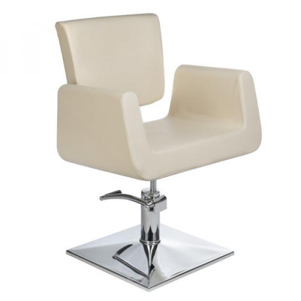 Fotel Fryzjerski Vito BH-8802 Kremowy #1