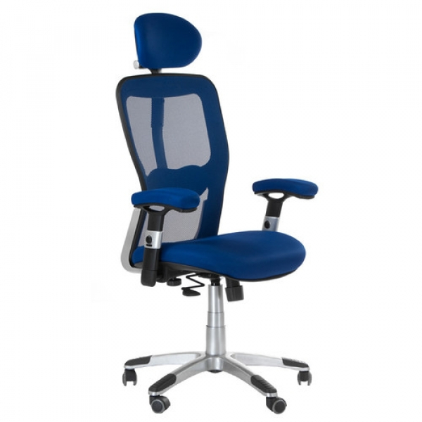 Fotel Ergonomiczny Corpocomfort BX-4147 Niebieski #1