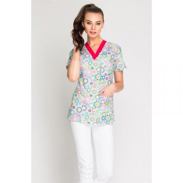 Bluza Medyczna Damska Print, Rozmiar M #1