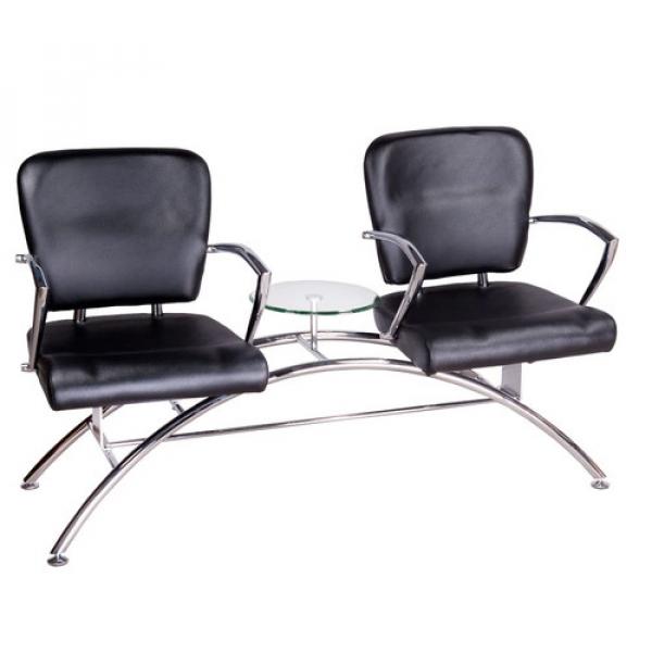 Krzesło Do Poczekalni LIVIO Czarne BD-6709(1003) #1