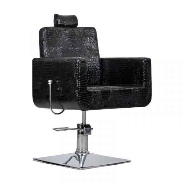 Fotel Fryzjerski Bell Bis Czarny Krokodyl #1