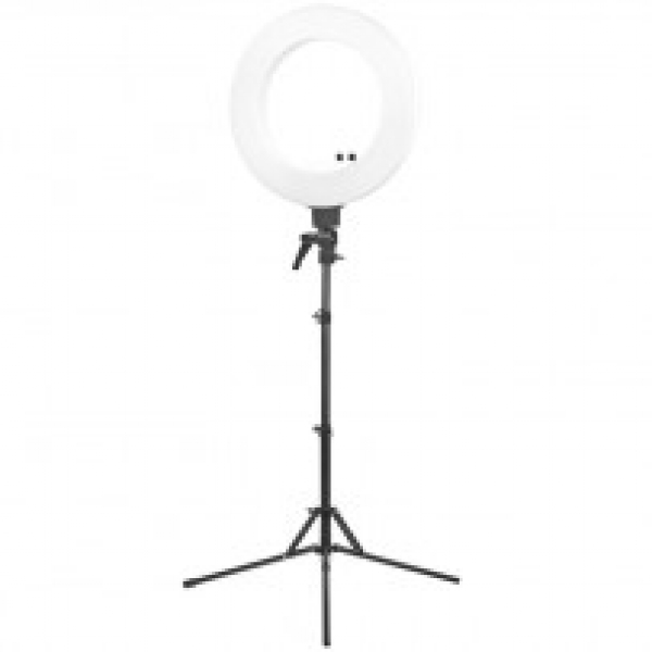 "Lampa Light Ring 18"" 48w Led Biała + Statyw #1"