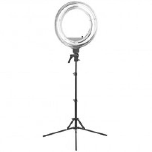 """Lampa Light Ring 18"""" 55w Fluoresce Biała + Statyw #1"""