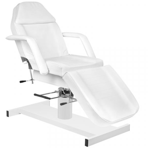 Zestaw Fotel 210 + Taboret 303 Biały + Prześcieradło Fliselinowe #1
