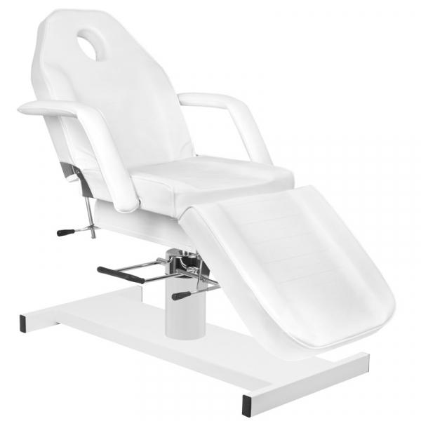 Zestaw Fotel 210 + Taboret 303 Biały + Prześcieradło Fliselinowe #2