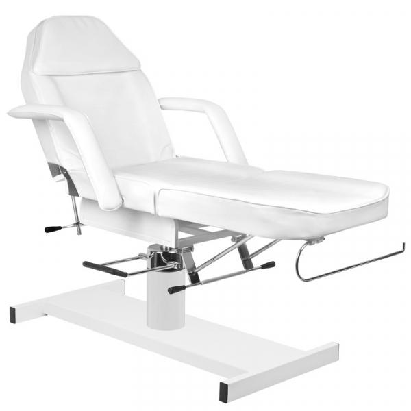 Zestaw Fotel 210 + Taboret 303 Biały + Prześcieradło Fliselinowe #3
