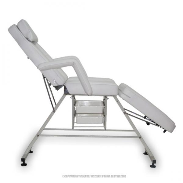 Fotel Kosmetyczny Standard Max Biały #3