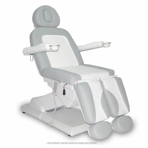 Fotel Kosmetyczny S-Lux -Duo Biały/Popiel #1