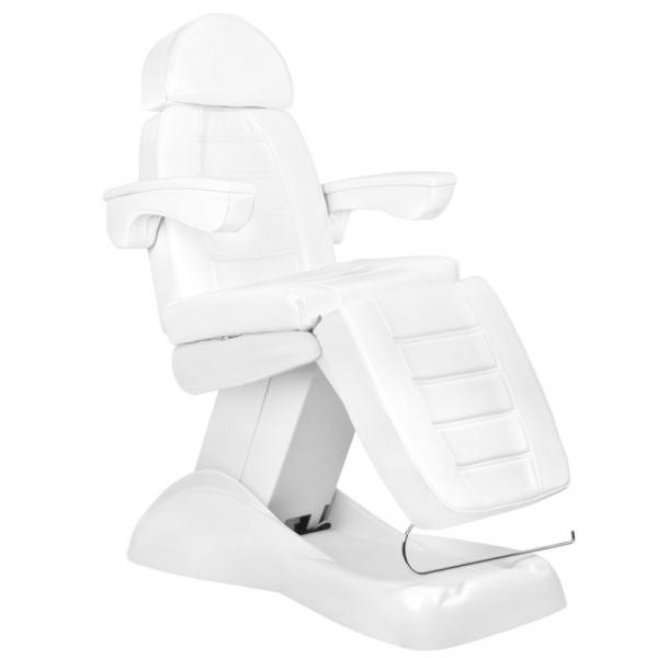Fotel Kosmetyczny Elektryczny Lux 4m Biały / Buk #1