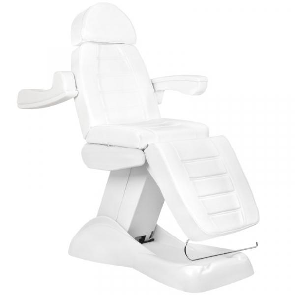 Fotel Kosmetyczny Elektryczny Lux 4m Biały / Buk #2