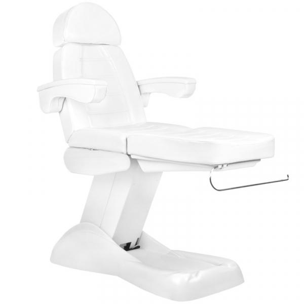Fotel Kosmetyczny Elektryczny Lux 4m Biały / Buk #3