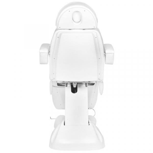 Fotel Kosmetyczny Elektryczny Lux 4m Biały / Buk #9