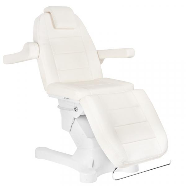 Fotel Kosmetyczny Elektr. A-207 White/Ivory (4 Silniki) #2