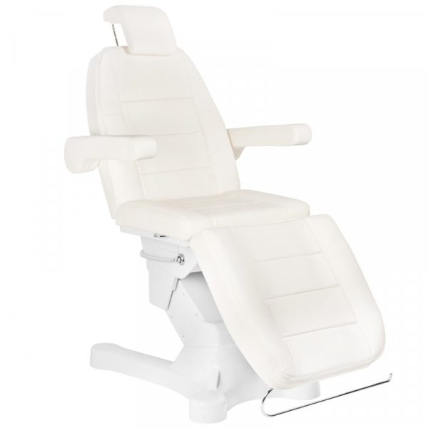 Fotel Kosmetyczny Elektr. A-207 White/Ivory (4 Silniki) #3