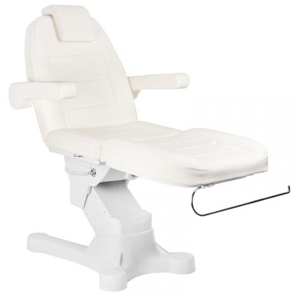 Fotel Kosmetyczny Elektr. A-207 White/Ivory (4 Silniki) #5
