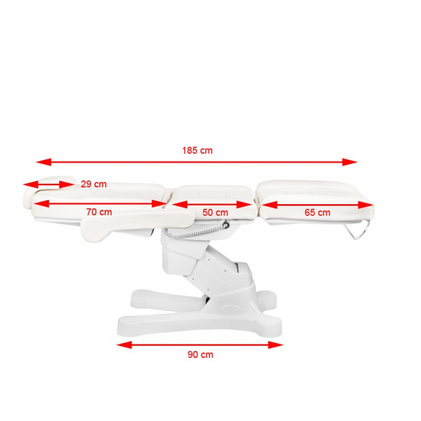 Fotel Kosmetyczny Elektr. A-207 White/Ivory (4 Silniki) #11