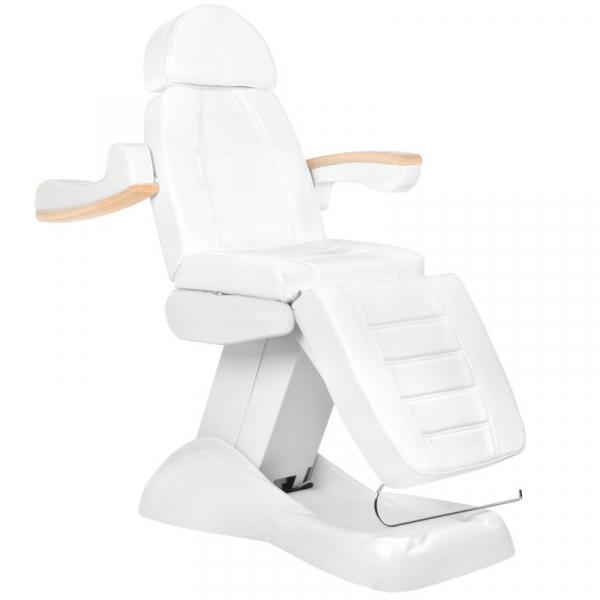 Fotel Kosmetyczny Elektryczny Lux Biały / Buk #3