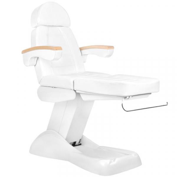 Fotel Kosmetyczny Elektryczny Lux Biały / Buk #5