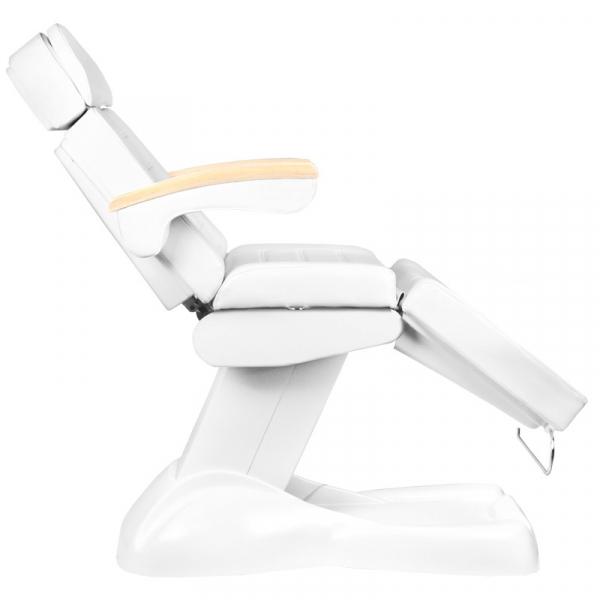 Fotel Kosmetyczny Elektryczny Lux Biały / Buk #7
