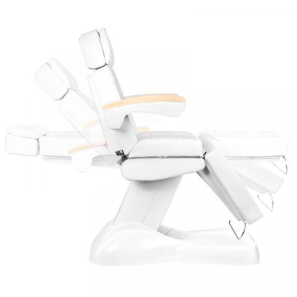 Fotel Kosmetyczny Elektryczny Lux Biały / Buk #8