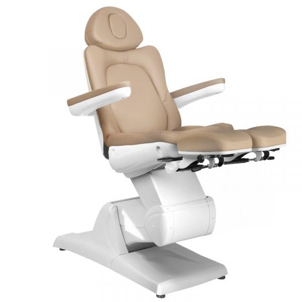 Fotel Kosmetyczny Elektr. Azzurro 870s Pedi 3 Siln. Cappuccino #6