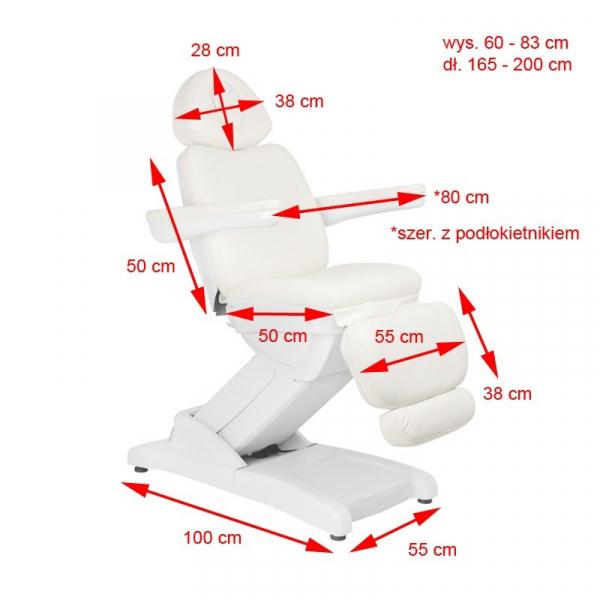 Fotel Kosmetyczny Elektr. Azzurro 871 4 Siln. Biały #3
