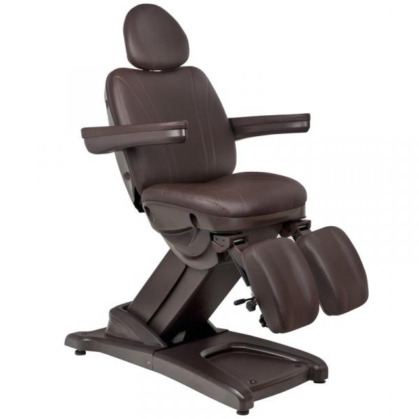Fotel Kosmetyczny Elektr. Azzurro 872s Pedi-Pro 3 Siln. Brązowy #4