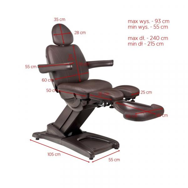 Fotel Kosmetyczny Elektr. Azzurro 872s Pedi-Pro 3 Siln. Brązowy #13