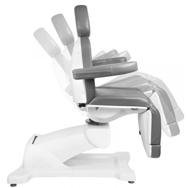 Fotel Kosmetyczny Elektr. Azzurro 869A Obrotowy 4 Siln. Szary #8