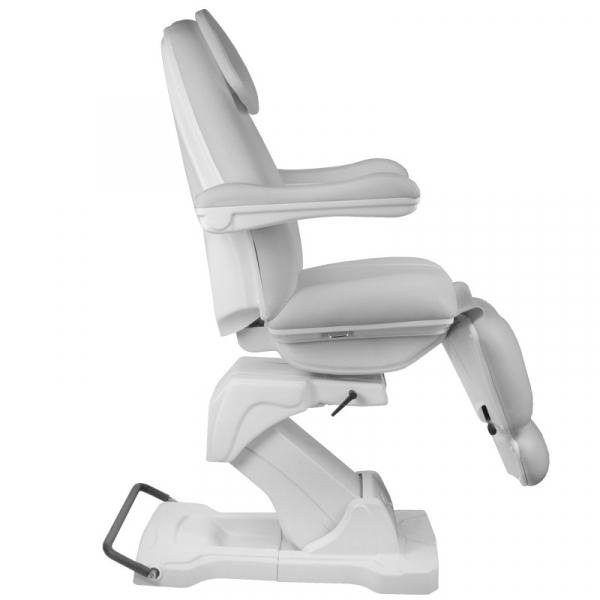 Fotel Kosmetyczny elektryczny Basik 161 obrotowy SZARY #5