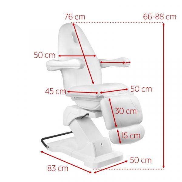 Fotel Kosmetyczny elektryczny Basik 161 obrotowy SZARY #9