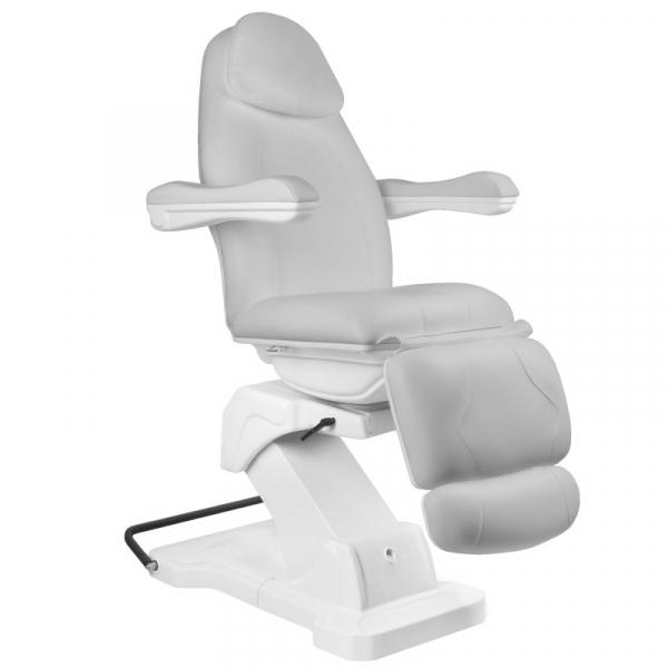 Fotel Kosmetyczny elektryczny Basik 161 obrotowy SZARY #1
