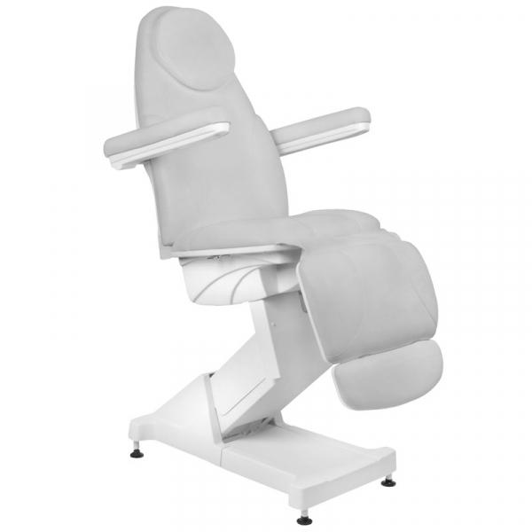 Fotel Kosmetyczny elektryczny Basik 158 3 SILN. obrotowy SZARY #1