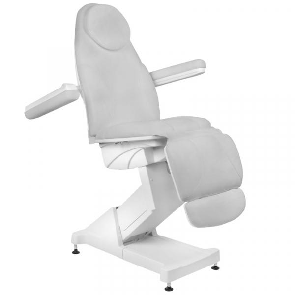 Fotel Kosmetyczny elektryczny Basik 158 3 SILN. obrotowy SZARY #3