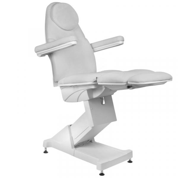 Fotel Kosmetyczny elektryczny Basik 158 3 SILN. obrotowy SZARY #4