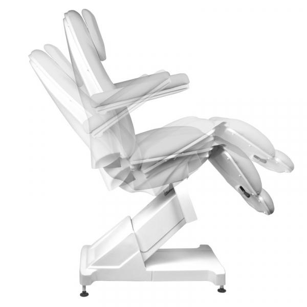 Fotel Kosmetyczny elektryczny Basik 158 3 SILN. obrotowy SZARY #8
