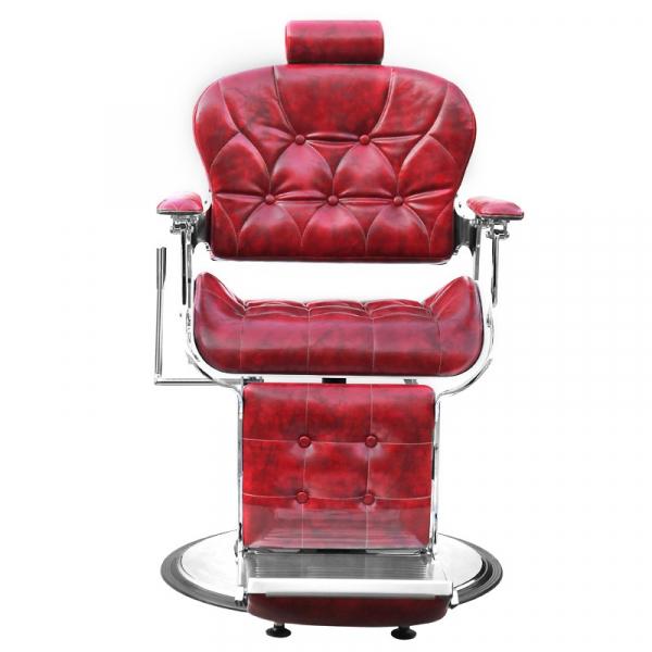 Gabbiano Fotel Barberski Premier Czerwony #3