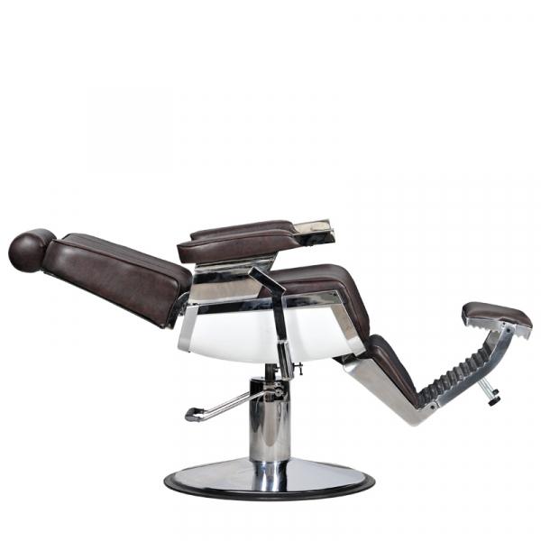 Fotel Fryzjerski Barber Brąz #3