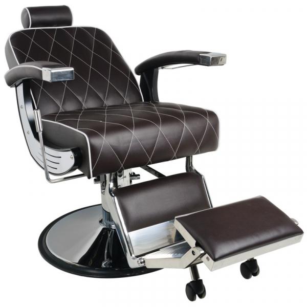 Gabbiano Fotel Barberski Imperial Brązowy #4
