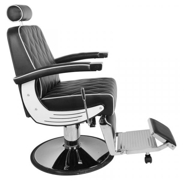 Gabbiano Fotel Barberski Imperial Czarny #3