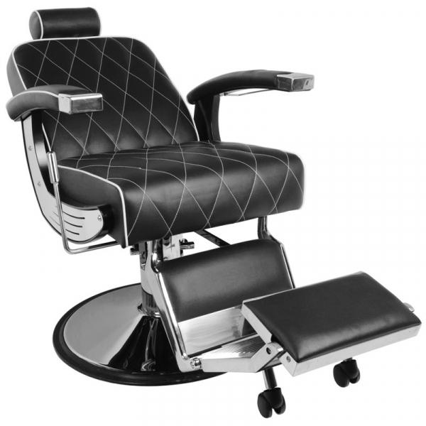 Gabbiano Fotel Barberski Imperial Czarny #4