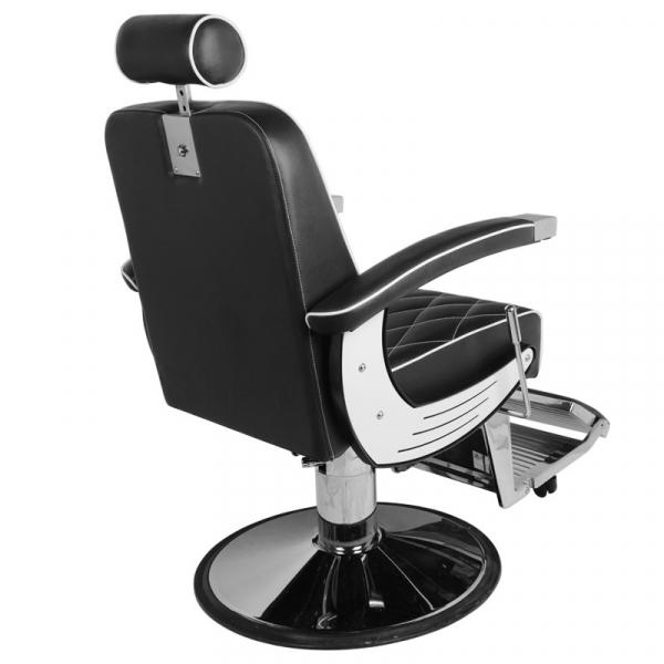 Gabbiano Fotel Barberski Imperial Czarny #5