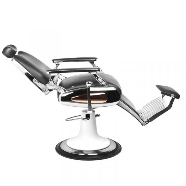 Gabbiano Fotel Barberski Moto Style Czarny #4