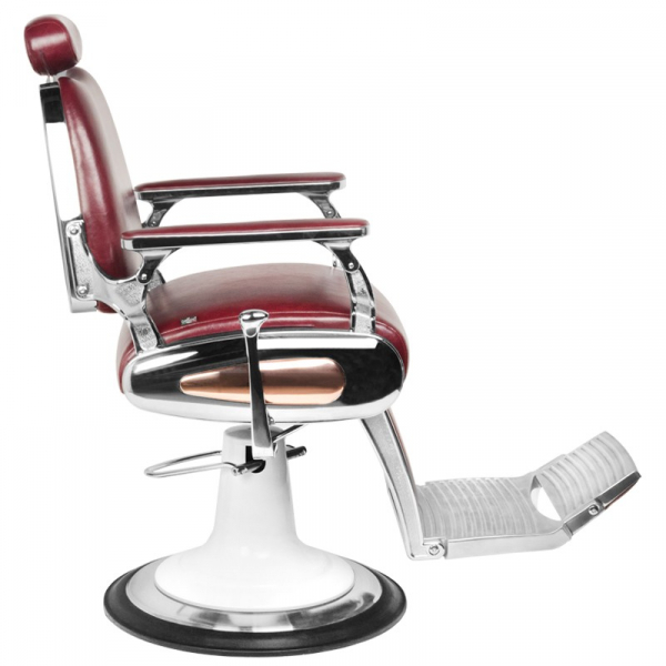 Gabbiano Fotel Barberski Moto Style Bordowy #2