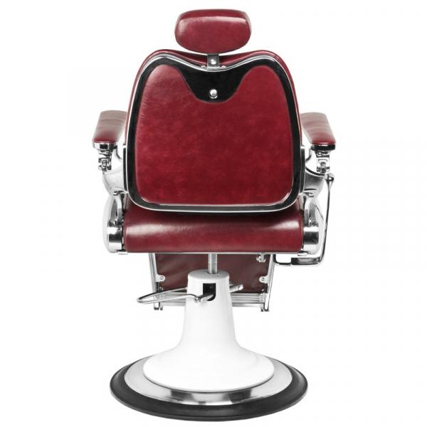 Gabbiano Fotel Barberski Moto Style Bordowy #4