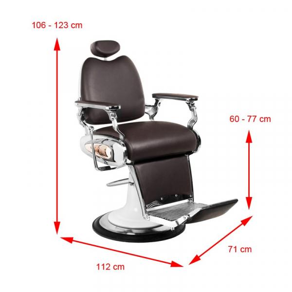 Gabbiano Fotel Barberski Moto Style Brązowy #6