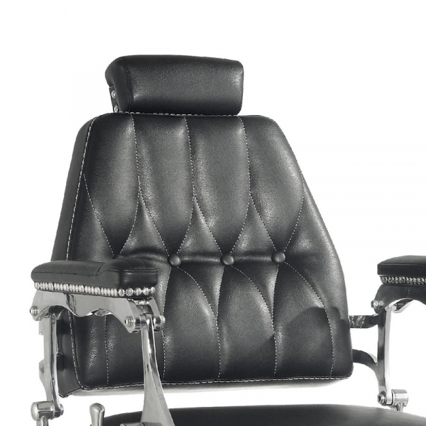 Gabbiano Fotel Barberski Lord Czarny #4