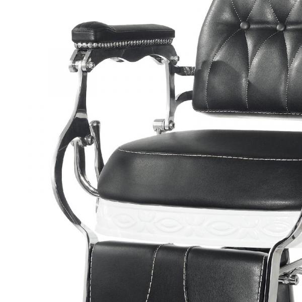 Gabbiano Fotel Barberski Lord Czarny #8