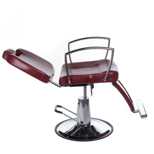 Fotel Barberski HOMER II BH-31275 Czerwony #4
